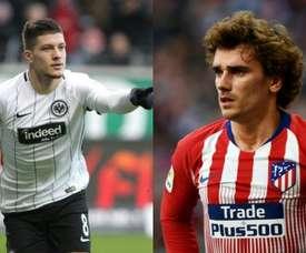 Jovic vs. Griezmann: o dilema do Barça. AFP
