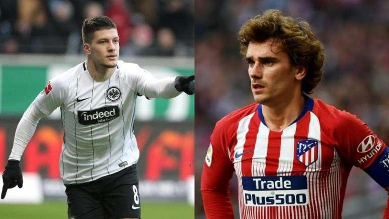 Jovic vs. Griezmann: dilema en el Barça. AFP