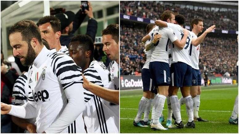 Juve y Tottenham se enfrentarán por primera vez en competición oficial. AFP