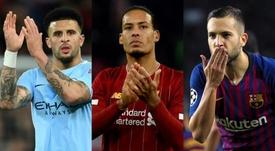 Kyle Walker, Van Dijk, Jordi Alba et les meilleurs défenseurs de FIFA 20. AFP/EFE