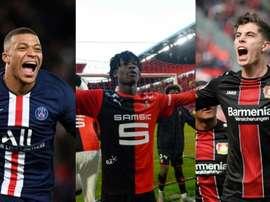 Mbappé, Camavinga e Havertz esperam uma chamada do Bernabéu. AFP