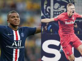 Trouble for Madrid as Juventus also after Mbappe and Haland . AFP/RBSalzburg