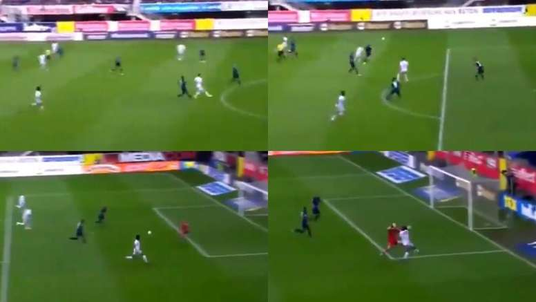 Coutinho gave a great assist to Gnabry to put Bayern in front. Capturas/Bundesliga