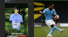 Así felicitaron a Sterling por sus 100 goles con el City sus vecinos. Sterling7/AFP