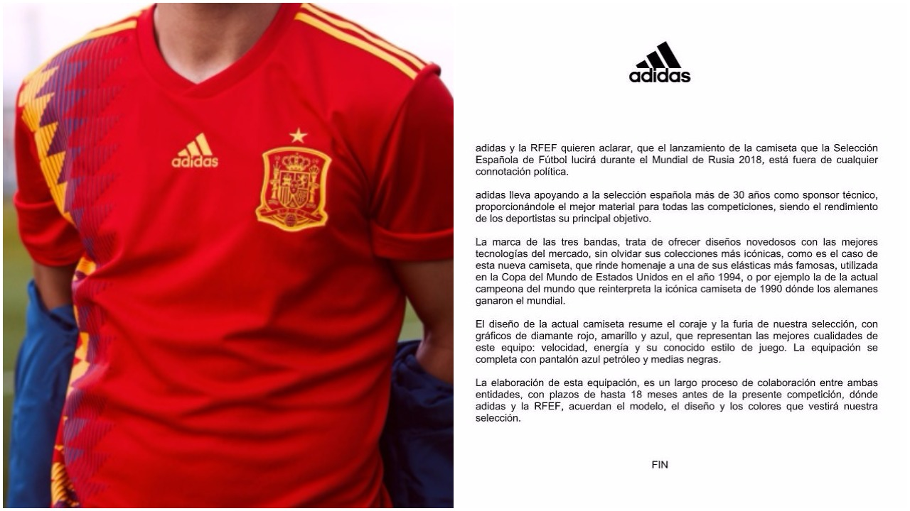 Adidas y la RFEF rompen su silencio tras la polémica de la camiseta ...