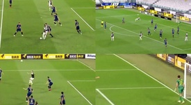 Ronaldo missed a bicycle kick. Screenshots/MovistarLigadeCampeones