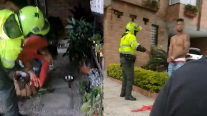 Guarín, detenido tras una pelea. Capturas/Twitter/BluRadioCo