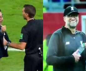 Mohamed and Klopp got into an argument during the Club World Cup semi final. Screenshot/DAZN