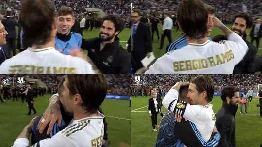 Ramos a félicité son coéquipier. Capture/RFEF
