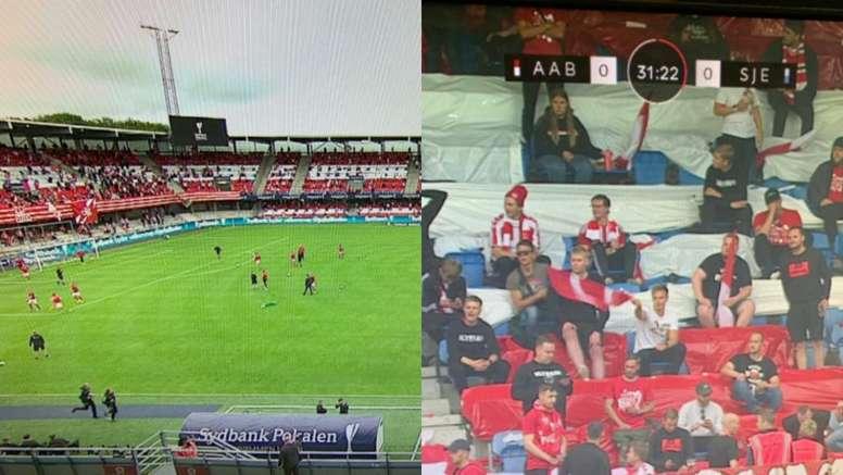 Interrumpen la Copa Danesa por negarse a guardar la distancia social.  @chrisdparrott