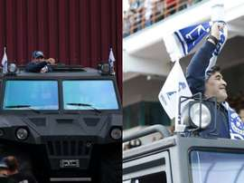 Maradona, arrivée triomphale en Biélorussie. Capture/ESPN