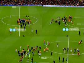 El partido entre Galatasaray y Turquía acabó en pelea. Captura/beINSports