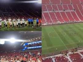 Sans Messi... pas de public. Captures/Twitter