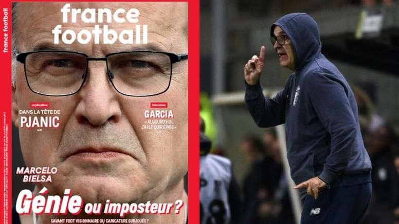 La prensa francesa apunta a Bielsa. Montaje/FranceFootball/AFP