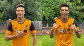 Los Wolves presentaron la nueva camiseta con Raúl Jiménez. Twitter/Wolves