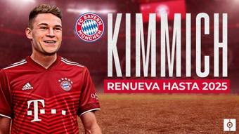 Kimmich extendió su contrato por dos cursos más. BeSoccer