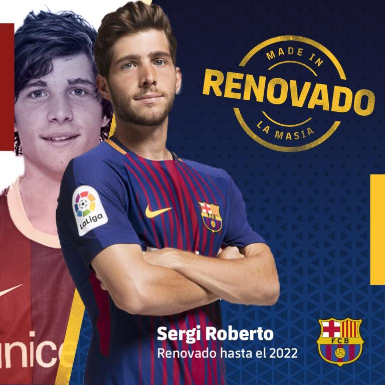 Sergi Roberto prolonge avec le FC Barcelone — Officiel
