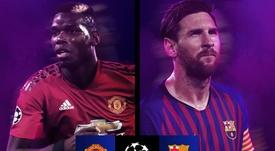 Manchester United-Barcelona nas quartas da Champions. EFE
