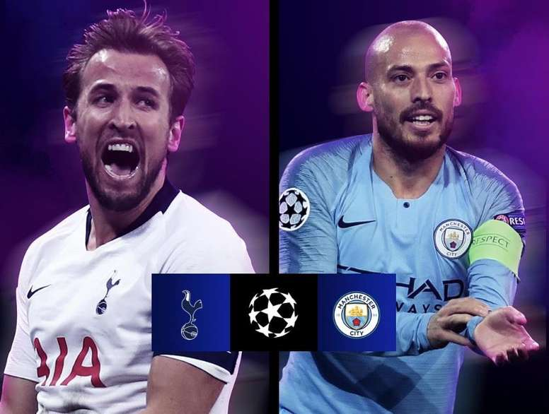 Tottenham-City: duelo caseiro nas quartas. UEFAChampionsLeague