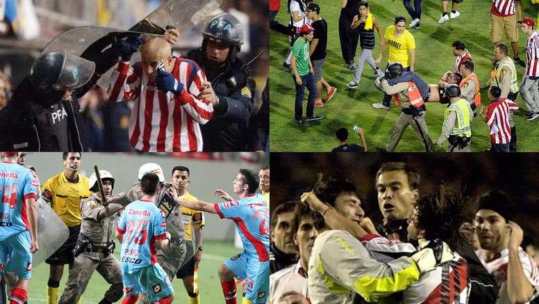 Lamentáveis confrontos ocorridos na Libertadores. BeSoccer