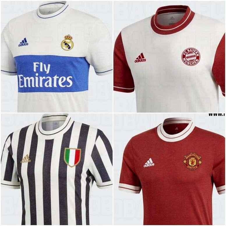 724460df9 Las camisetas retro de los grandes de Europa que venderá Adidas ...