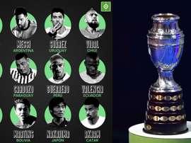 Les 12 stars des 12 sélections de la Copa América. BeSoccer/AFP