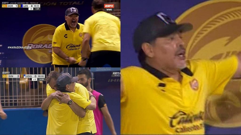 ¡Maradona festejó el triunfo bailando en el vestuario!