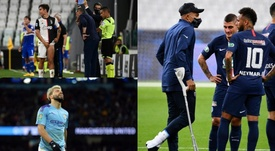 As lesões preocupam nessa Champions. EFE/AFP