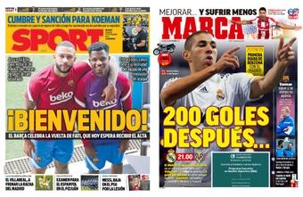 Portadas de la prensa deportiva del 25-09-21. Sport/Marca