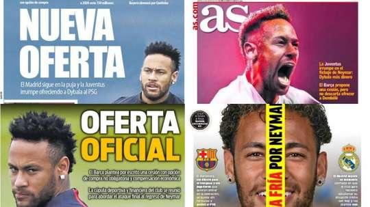 As capas da imprensa esportiva de 20 de agosto de 2019. BeSoccer