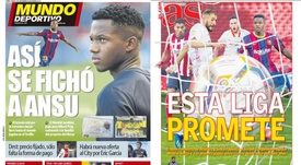 As capas da imprensa esportiva. MundoDeportivo/AS