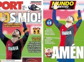Les Unes des journaux sportifs en Espagne du 30 novembre 2020. Sport/MundoDeportivo