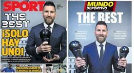 Les Unes de Sport et Mundo Deportivo du 24/09/2019. Montage/Sport/MD