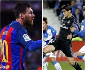 Montage de Leo Messi et Álvaro Morata. BeSoccer