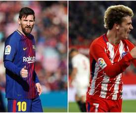 Messi attend Griezmann. Besoccer