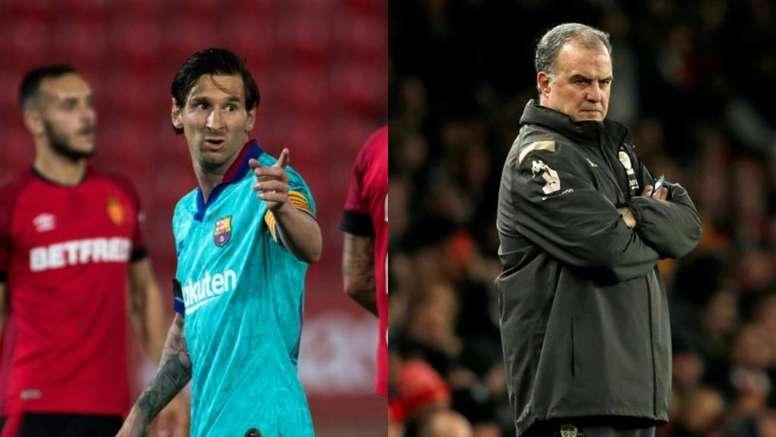 Messi wants Bielsa to take over as Barcelona boss. Montaje/EFE/AFP