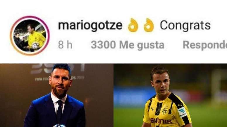 Le arrebató el Mundial a Messi, pero no olvidó felicitarle por el 'The Best'. Montaje/AFP/Instagram