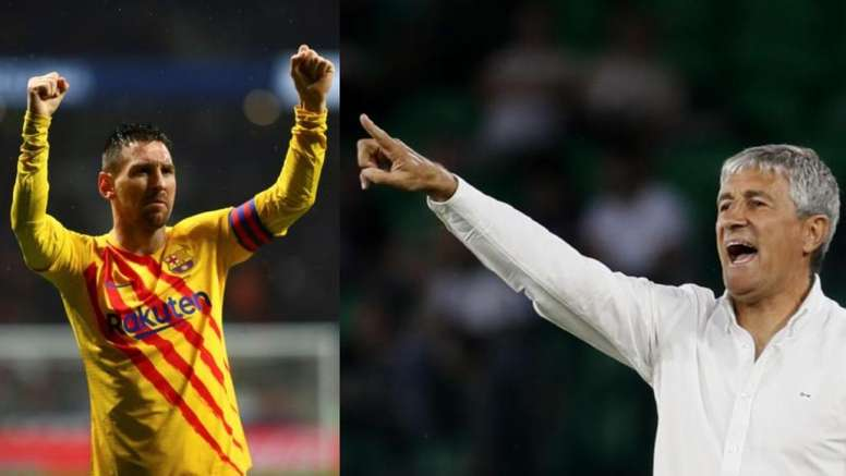 Quique Setién e Leo Messi. Um pedido inusitado. EFE