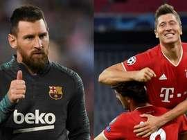 O histórico em Champions favorece o Bayern de Munique. AFP