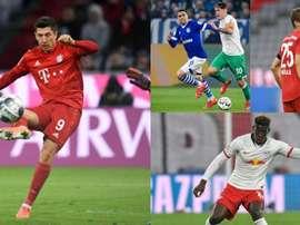 El XI de la Bundesliga 19-20 según las estadísticas. AFP/EFE