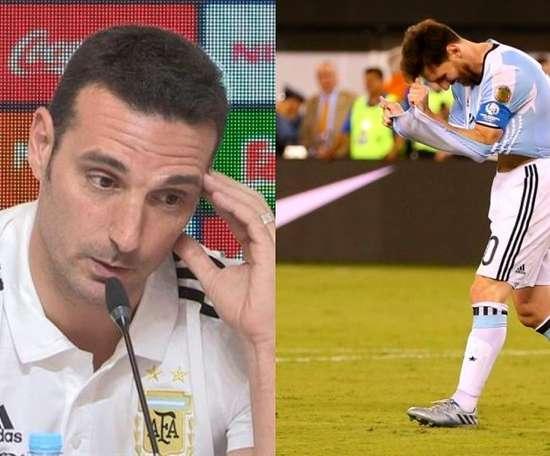 El técnico aclaró el 'tema Messi' en rueda de prensa. Montaje/BeSoccer