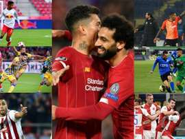 Os sete invencíveis da Europa. AFP/RBSalzburg/Olympiacos/MaccabiTelAviv/Ludogorets