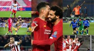 Les sept invincibles de l'Europe. AFP/RBSalzburg/Olympiacos/MaccabiTelAviv/Ludogorets