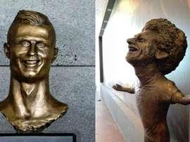 Los bustos más emblemáticos del mundo del fútbol. Twitter