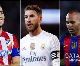 Montage des capitaines de La Liga 2017-18. BeSoccer