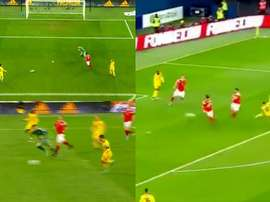 Hazard got two. Screenshot/Cuatro