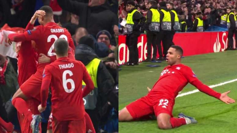 Gnabry and Lewandowski combined twice in three minutes. Twitter/MovistarFutbol