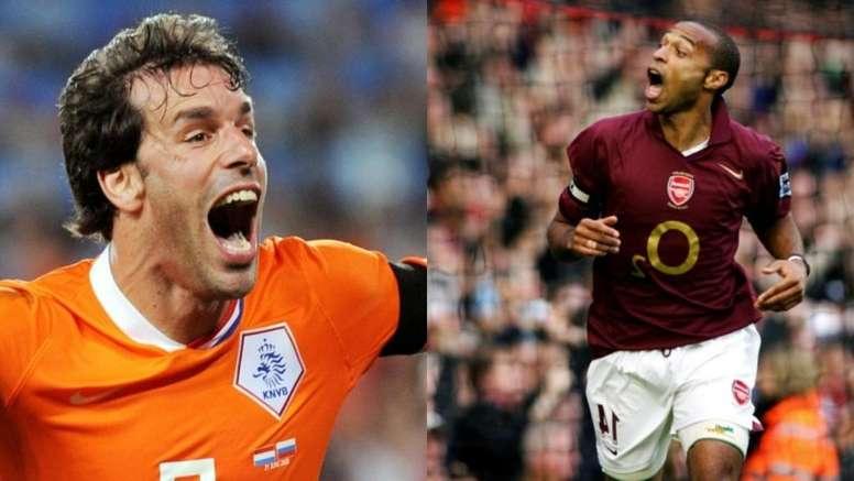 La rivalidad entre Van Nistelrooy y Henry. AFP