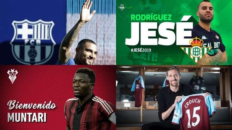 Boateng, Jesé, Muntari y Crouch destacan en la lista. BeSoccer