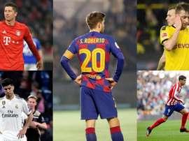 Os jogadores beneficiados pelo coronavírus. EFE/AFP
